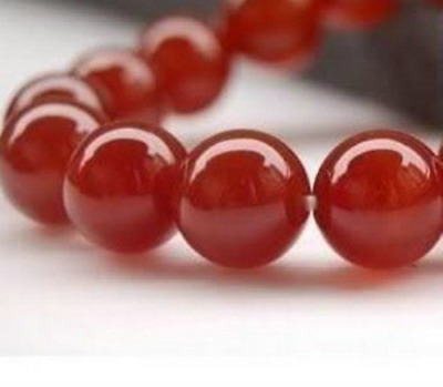 Wholesale Natural Carnelian Red Ruby Round Loose Beads Gemstones 14''