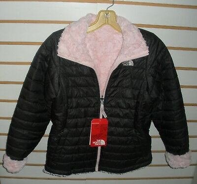The North Face Girls Reversible Mossbud Swirl Jacket-Cn01- S,m,l,xl-G Grey/ Pink