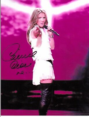 "Celine Dion Hand Signed Autograph 8X10 Photo Just The Woman In Me  ""hot With Coa"