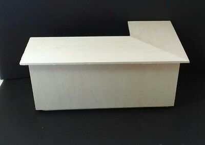"""Dollhouse Miniature  3"""" x 6"""" Wood Handcrafted Store right angled counter  1:12"""