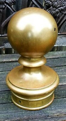 Architectural Salvage 19thC Brass Connecticut Antique Single Canon Finial
