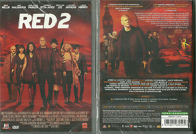 DVD - RED 2 avec BRUCE WILLIS, ANTHONY HOPKINS / NEUF EMBALLE - NEW & SEALED