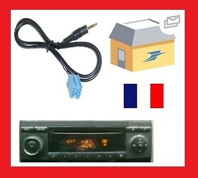 adaptateur fiche auxiliaire mp3 autoradio audi concert chorus aux in neuf eur 7 72. Black Bedroom Furniture Sets. Home Design Ideas