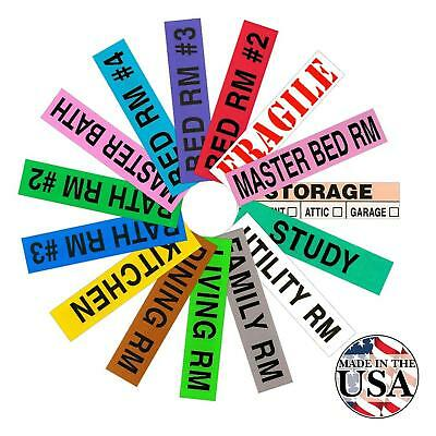 Tag-A-Room Color Coded Home Moving Box Labels, 800 Count 4 Bedroom House...