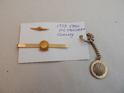 vintage 1955 SHELL OIL CO Employee SALESMAN Recognition Award JEWELRY 10k gold