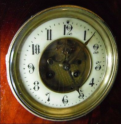 French open escapement 8 day mantle clock mechanism with extras