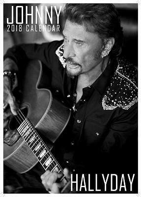 Johnny Hallyday Uk 2018 Large A3 Wall Calendar New & Sealed By Oc Calendars