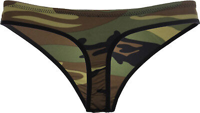 Womens Camo Sexy Thong Woodland Camouflage Underwear Panties