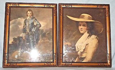 Vintage Solid Wood Picture Frames Hand Carved (2) PAIR 1900's w/ Glass 13 X 10.5