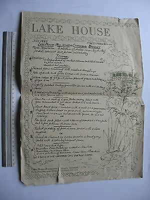 Lake House Restaurant MENU King St Daylesford