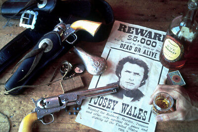 Clint Eastwood Outlaw Josey Wales With Guns 24X36 Poster Print