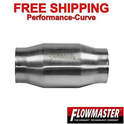 "3"" Flowmaster Catalytic Converter High Flow Stainless Metallic 200 Cell 2000130"