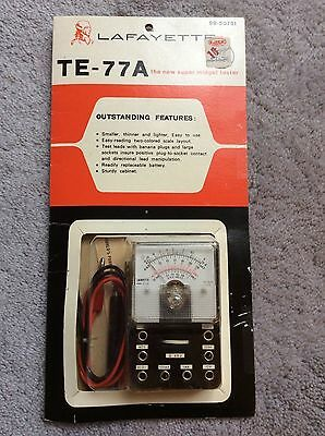 Vintage Lafayette TE-77A Super Midget Tester NEW in Box Pocket Size