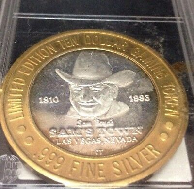 Limited Edition 10 Dollar Gaming Token (.999 FINE SILVER) Las Vegas Nevada