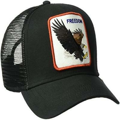 f1271f16e374e Goorin Bros Mens Animal Farm Snap Back Trucker Hat Black Eagle One Size  Goorin