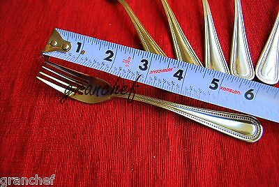 Salad Fork / Cake Fork ~ 12 pieces ~ Dots Pattern ~ New In Box -Stainless Steel