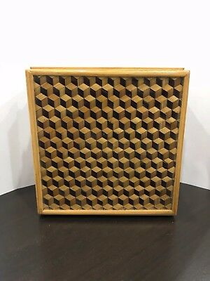 A Unique Vintage or Antique Woven & Lacquered Wooden Box