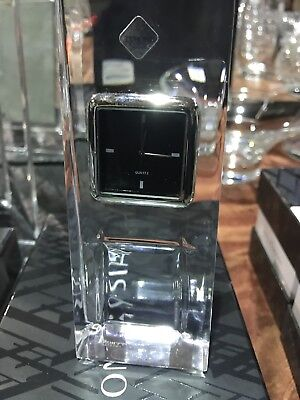 Tyrone Crystal Cubis Clock. New and Boxed
