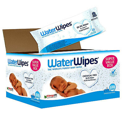 WaterWipes Sensitive Baby Wipes, 9 PACKS X 60 Wipes (540 Wipes) FAST DELIVERY