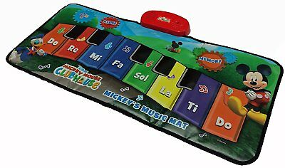 Big Floor Piano Mat Giant Toy Keys Play Step On Mickey Mouse Junior Friends Game