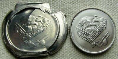 Malaysia Extremely Large 20 Sen Multi-Struck Die Cap