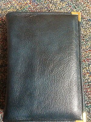 Genuine Dark teal, blue leather print bible cover for standard NWT (DLbi12-E)