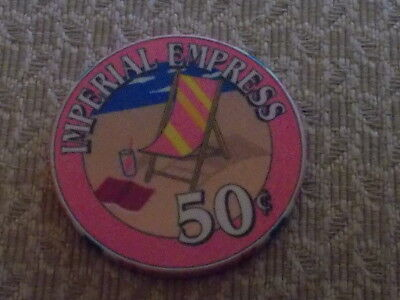 IMPERIAL EMPRESS $0.50 casino gaming chip ~ Cruise Ship