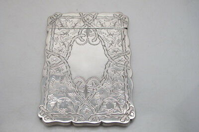 Antique Victorian Silver Calling Card Case 1887 Robert Thornton.