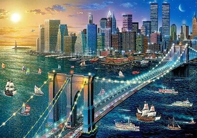 500 Teile Puzzle New York - Brooklyn Bridge, Castorland 52646