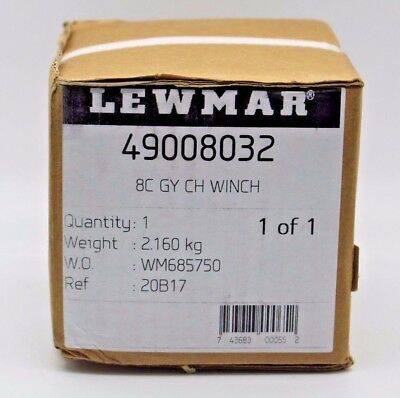 LEWMAR #8 One-Speed Chrome-Plated Bronze Non-Self-Tailing Winch 49008032. NEW..