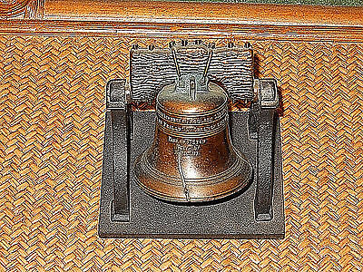 Heavy Duty Metal Penncraft Made In Usa The Liberty Bell July 4Th 1776 Desk Decor