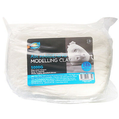 Artoys Air Hardening Modelling Clay - AIR DRY CLAY - White 5kg Craft Art Supply