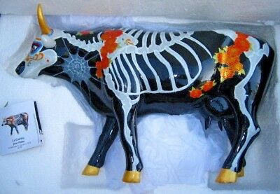 LARGE Cow Parade- La Catrina (museum edition) Day of the Dead Skeleton w/Tag Box
