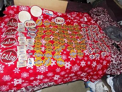 Vintage Gas Oil & Car Patches Lot Of 116 Patches Esso Mobil Desoto Estate Find