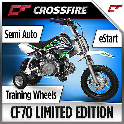 Crossfire CF70 70cc Limited Ed Bike with FREE Training Wheels and Fastace Shock