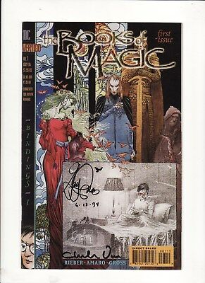 1994 DC Books Of Magic #1 Signed by Artists Charles Vess & Gary Amaro
