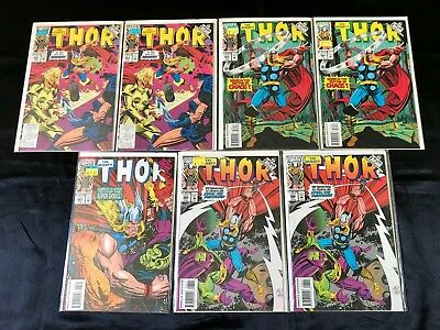 Lot Of 7 The Mighty Thor Comics (Marvel,1993) #463-466 Modern Age