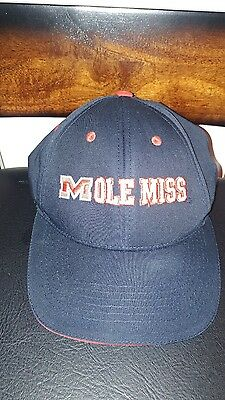 f5e2bfcec88 Ole Miss Rebels University of Mississippi Strapback Trucker Cap Hat Blue Red