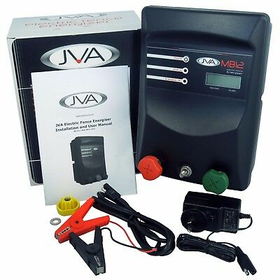 JVA MB12 Mains Electric Fence IP Energizer (Mains/Battery) - 16.5 Joules