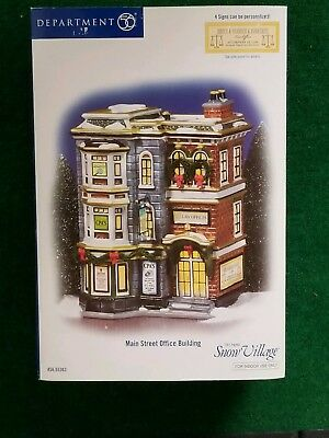 SNOW VILLAGE - DEPT 56 - MAIN STREET OFFICE BUILDING w/BOX