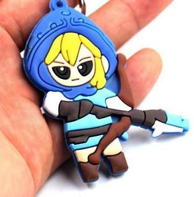 The Legend of Zelda Link Silicone Rubber Keychain Key Ring KeyRing Pendant *