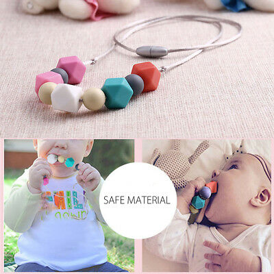 Silicone Sensory Baby Chew Beads Necklace for Mum Jewelry Aus Gift was Teething