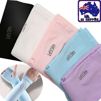 Cooling UV Arm Sleeves Sun Protective Cover Half Hand Golf Bike Driving CGLO991