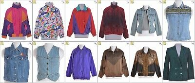 JOB LOT OF 18 VINTAGE WOMEN'S JACKETS - Mix of Era's, styles and sizes (24032)