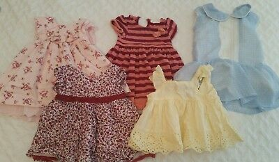 0-3 month baby girl dresses 000 *Like new* x 5
