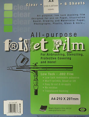 Grafix All-Purpose Frisket Film A4, 6 Sheets