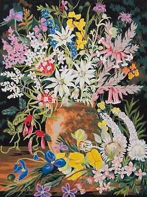 """Tapestry Canvas """"Wildflowers 1"""" 11872 (50x60cm) Colour Printed"""