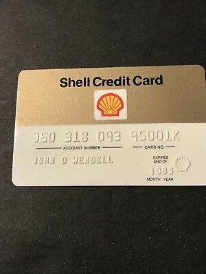 Shell credit card. Used in good condition w blemishes, scuffs, marks