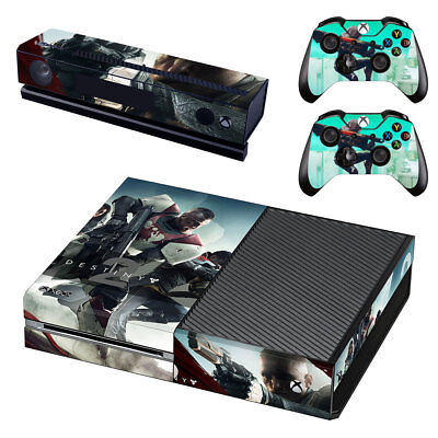 XBox One Console Skin Sticker Protector New Destiny 2 +2 Controllers
