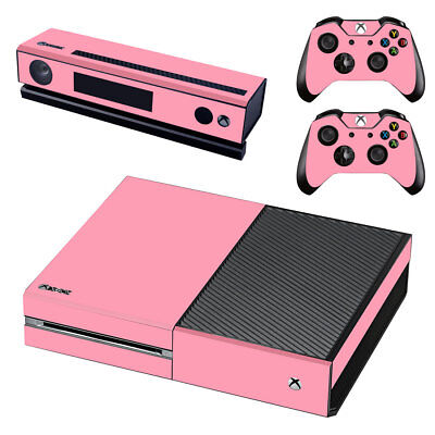 XBox One Console Skin Sticker Protector New Pink +2 Controllers